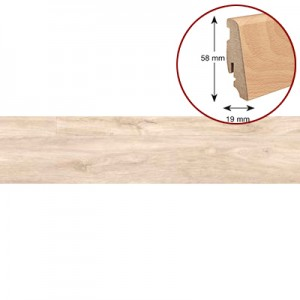 Плинтус из импрегнированной древесины (водостойкий) Haro 19/58 дерево 409413 Дуб Рива